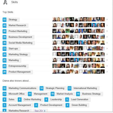 Diana Esparza Linkedin Endorsements